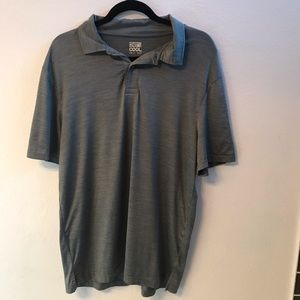 🧁Gray green athletic polo. Cool wicking fabric